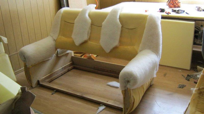 Ремонт своими руками дивана