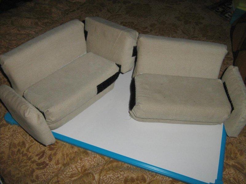 Детский диван из поролона своими руками фото