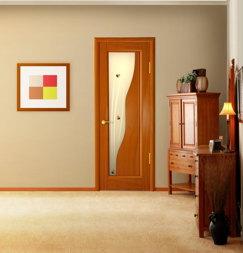 Рыжие двери в интерьере фото