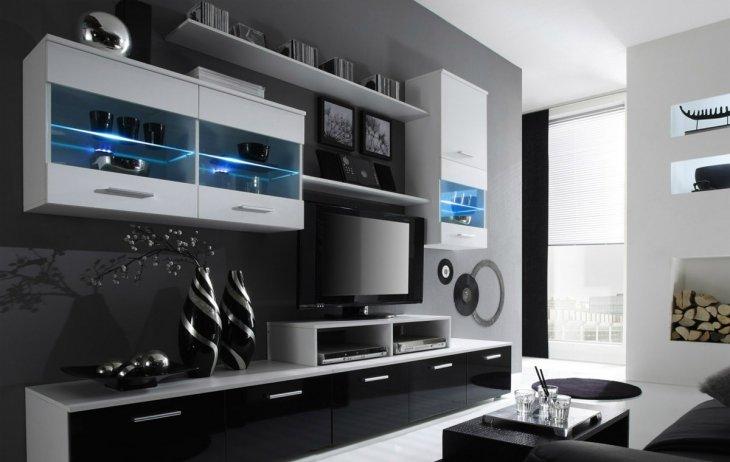корпусная мебель для гостиной красивые новинки сезона 83 фото