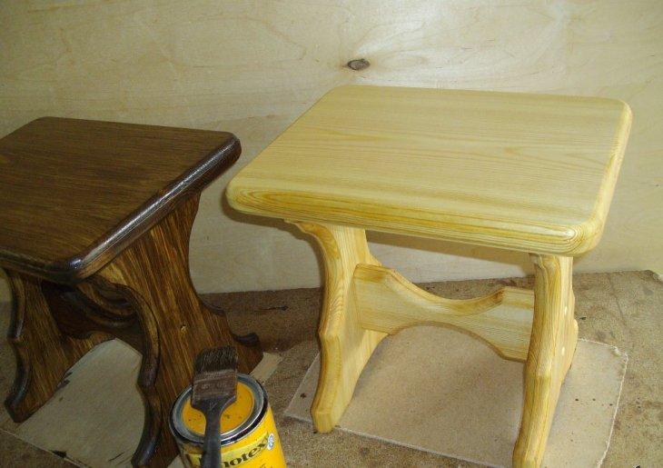 Как сделать красивый столик из сосны