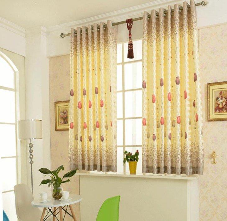 Короткие шторы в интерьере фото