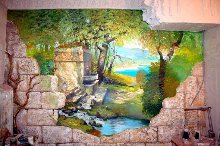 Своими руками художественная роспись стен