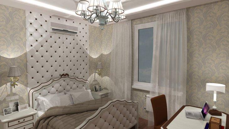 Дизайн спальни фото 2018 современные идеи обои двух