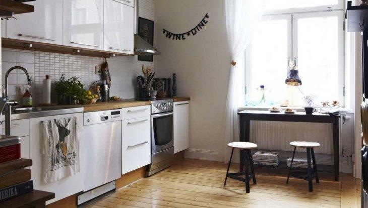 красивые кухни +в квартирах дизайнмм