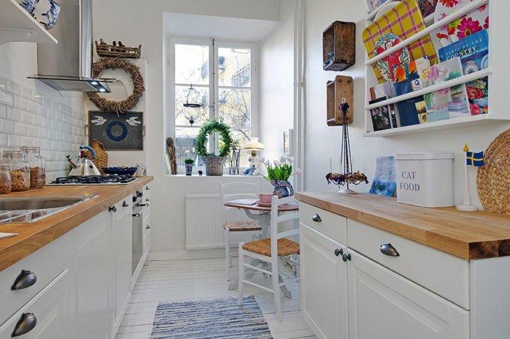 красивые кухни +в квартирах дизайнv