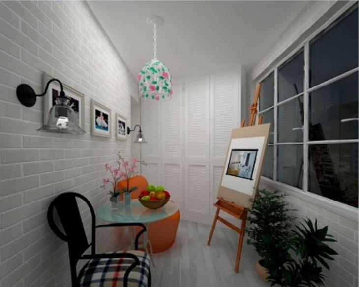 дизайн узкого балкона в квартире