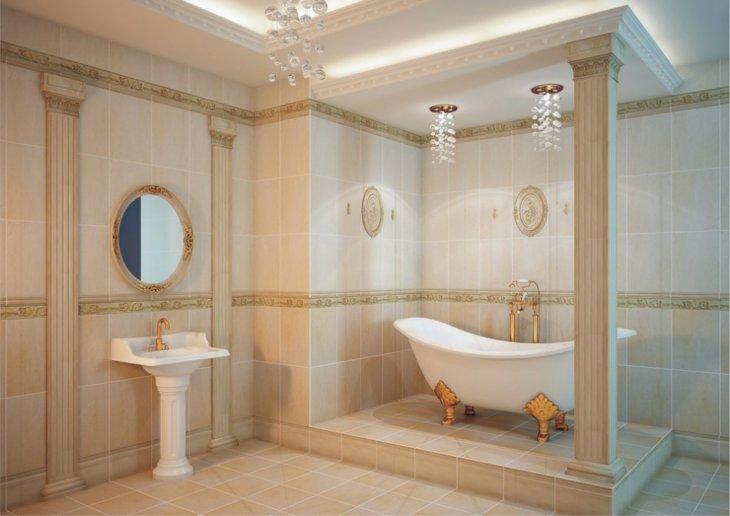 классический стиль ванной