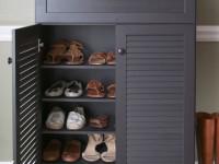 Полка для обуви — скрытые и плавающие системы хранения обуви + 74 фото