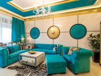 Бирюзовые шторы — отличные идеи для современной квартиры (74 фото)