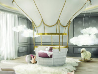 Потолок в детскую комнату (64 фото): красивые идеи и разные современные конструкции
