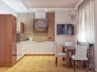 Стены на кухне: как красиво украсить камнем и деревом. 84 фото и вариантов