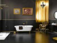 Черная ванная комната (64 фото): основные преимущества и недостатки такого решения