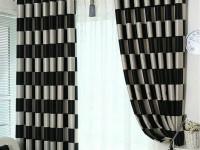 Черно-белые шторы: как подобрать творческие и узорчатые стильные решения (66 фото-идей)