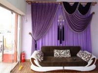 Фиолетовые шторы – современного использования очень эффектного яркого цвета. 58 фото-вариантов дизайна
