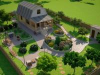 Двор частного дома: секреты ландшафтного дизайна и варианты обустройства придомовой территории