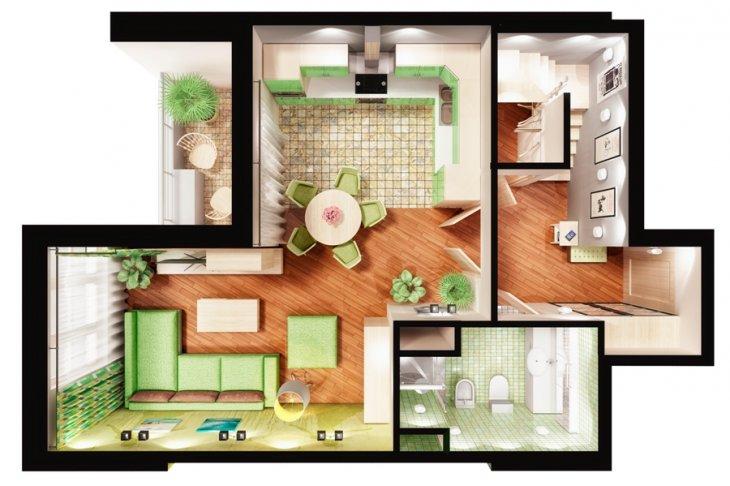 дизайны квартир фото 3 комнатные