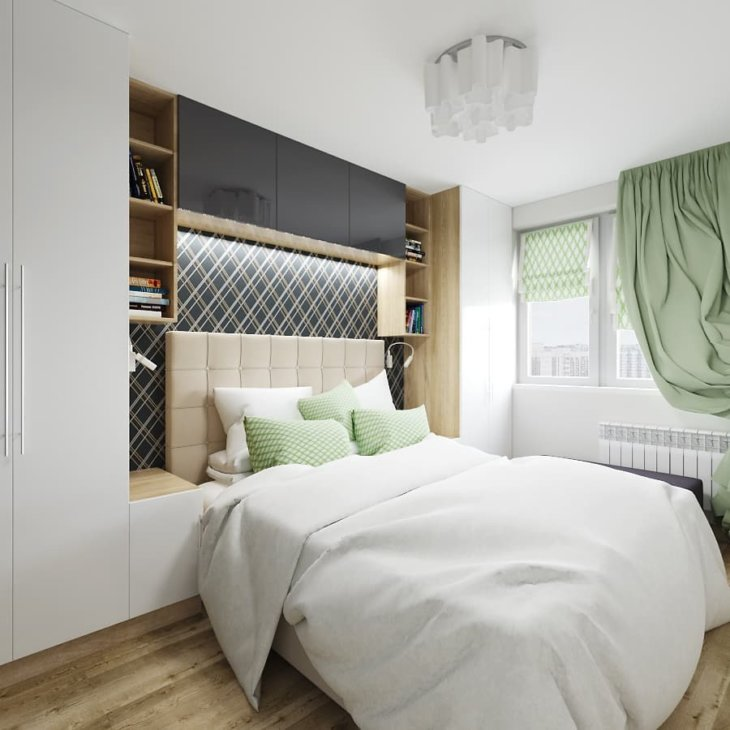 Ремонт маленькой спальни дизайн