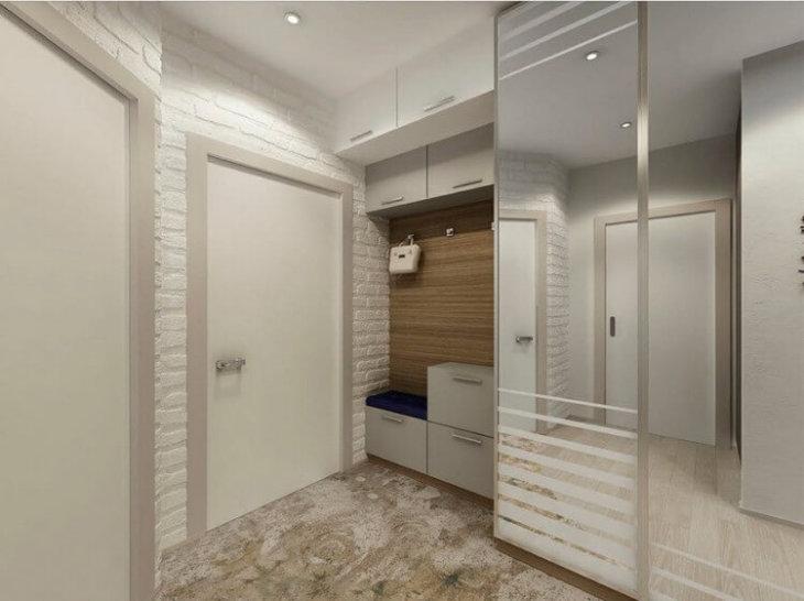 дизайн узкого коридора