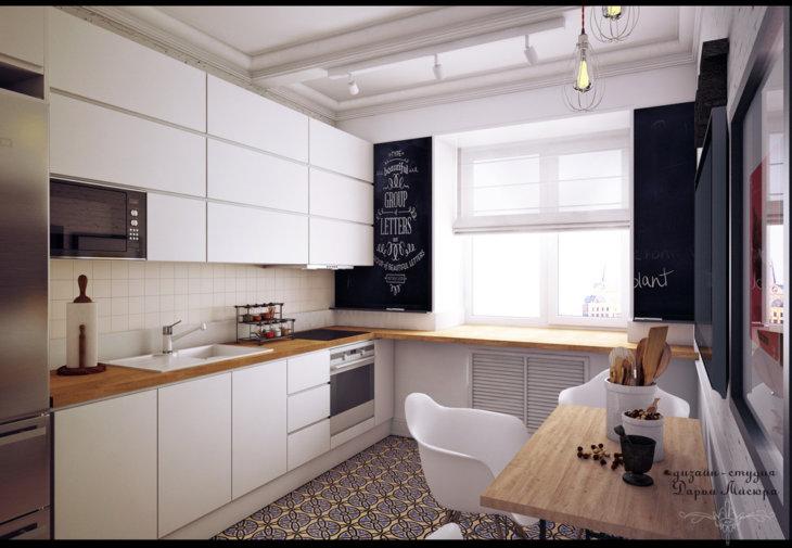красивые кухни +в квартирах дизайнм
