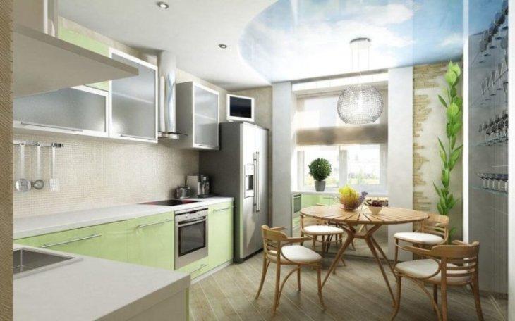 красивый дизайн кухни +в частном доме