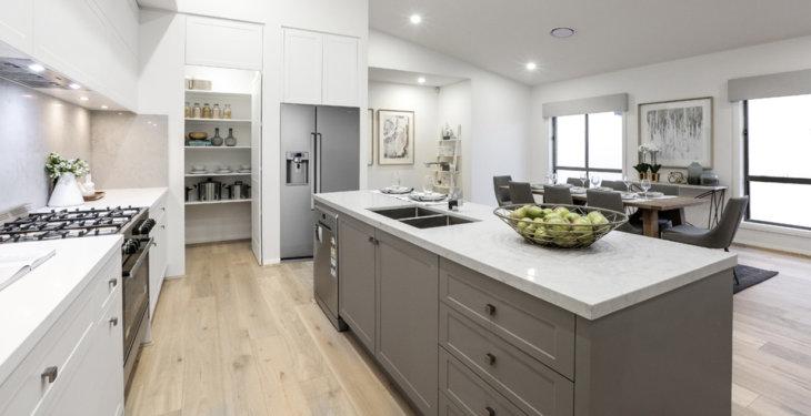 красивый современный дизайн кухни