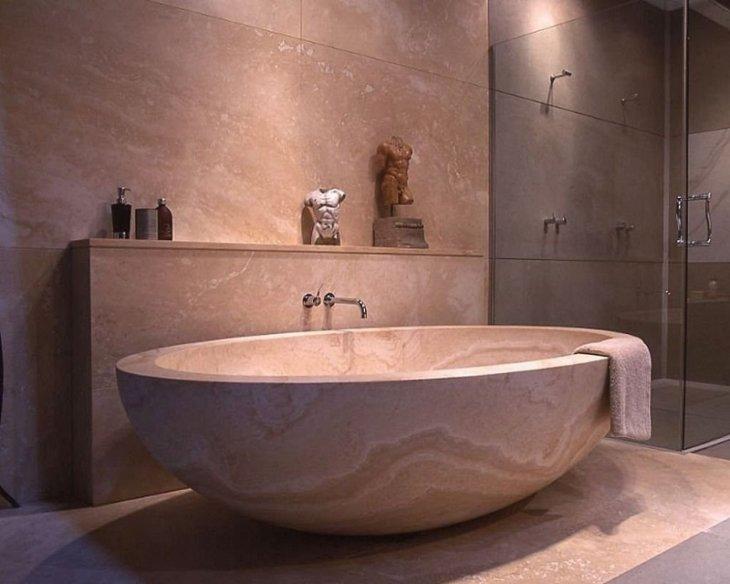 ванная из камня