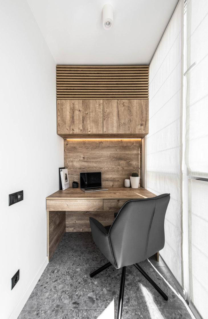 дизайн балкона +в однокомнатной квартире