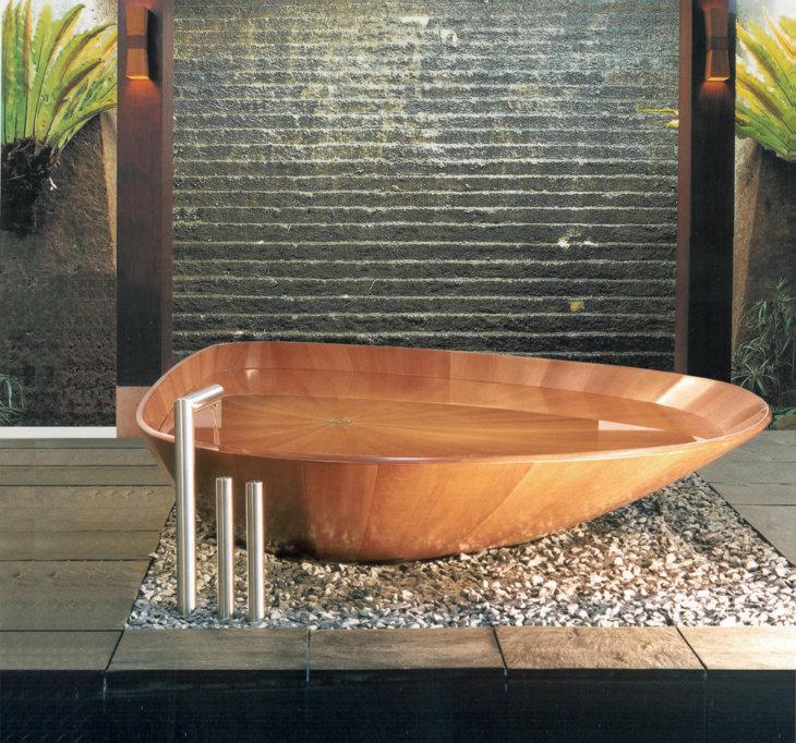 японская деревянная ванна